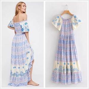 Dresses & Skirts - Embroidered Smocked Hummingbird Maxi DRESS